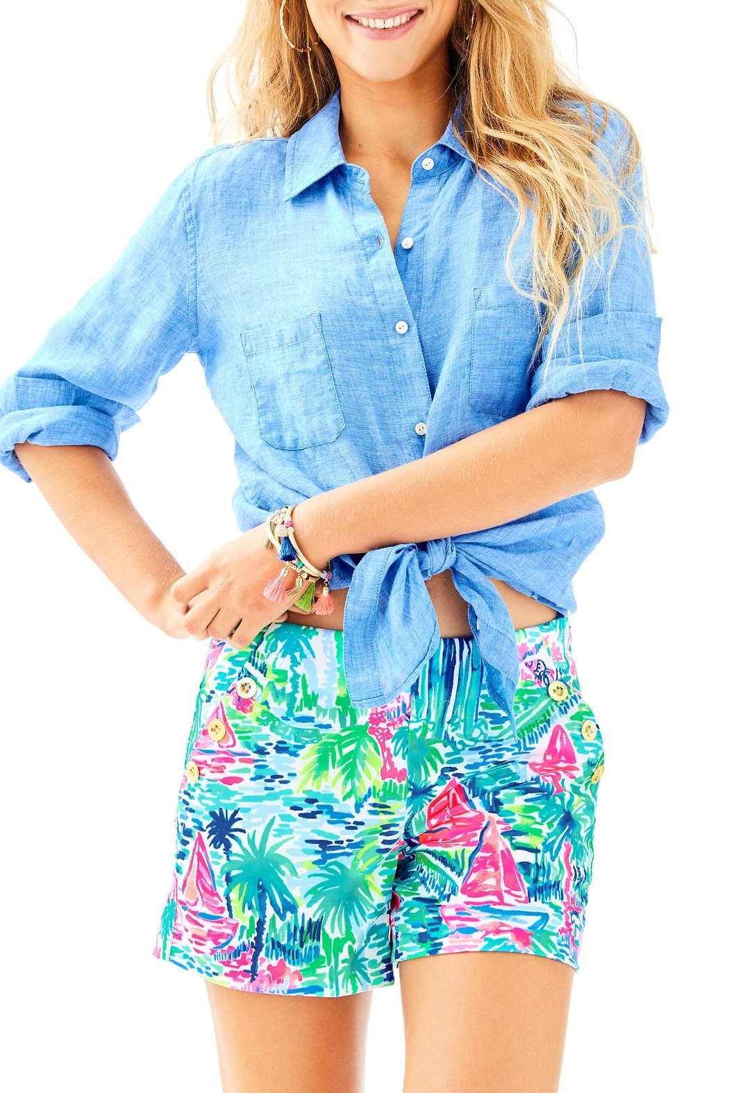 Lilly Pulitzer Marina Knit Short - Front Cropped Image