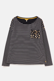 Joules Marina Print Drop Shoulder Top - Product Mini Image