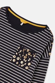 Joules Marina Print Drop Shoulder Top - Side cropped