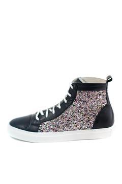 Shoptiques Product: Black Glitter Leather High Tops