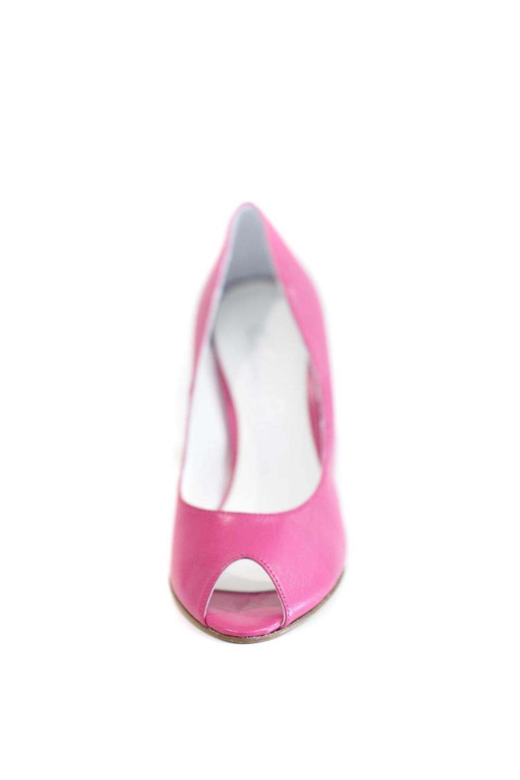 MARINA FERRANTI Hot Pink Leather Stiletto Pump - Front Full Image