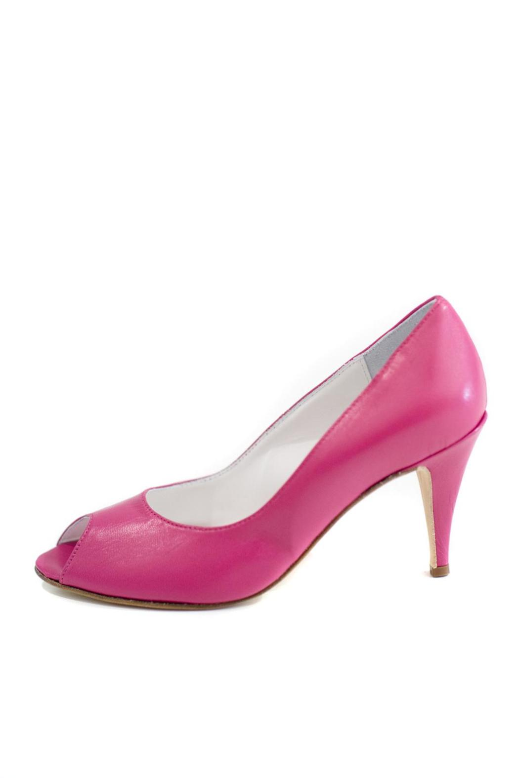 MARINA FERRANTI Hot Pink Leather Stiletto Pump - Front Cropped Image