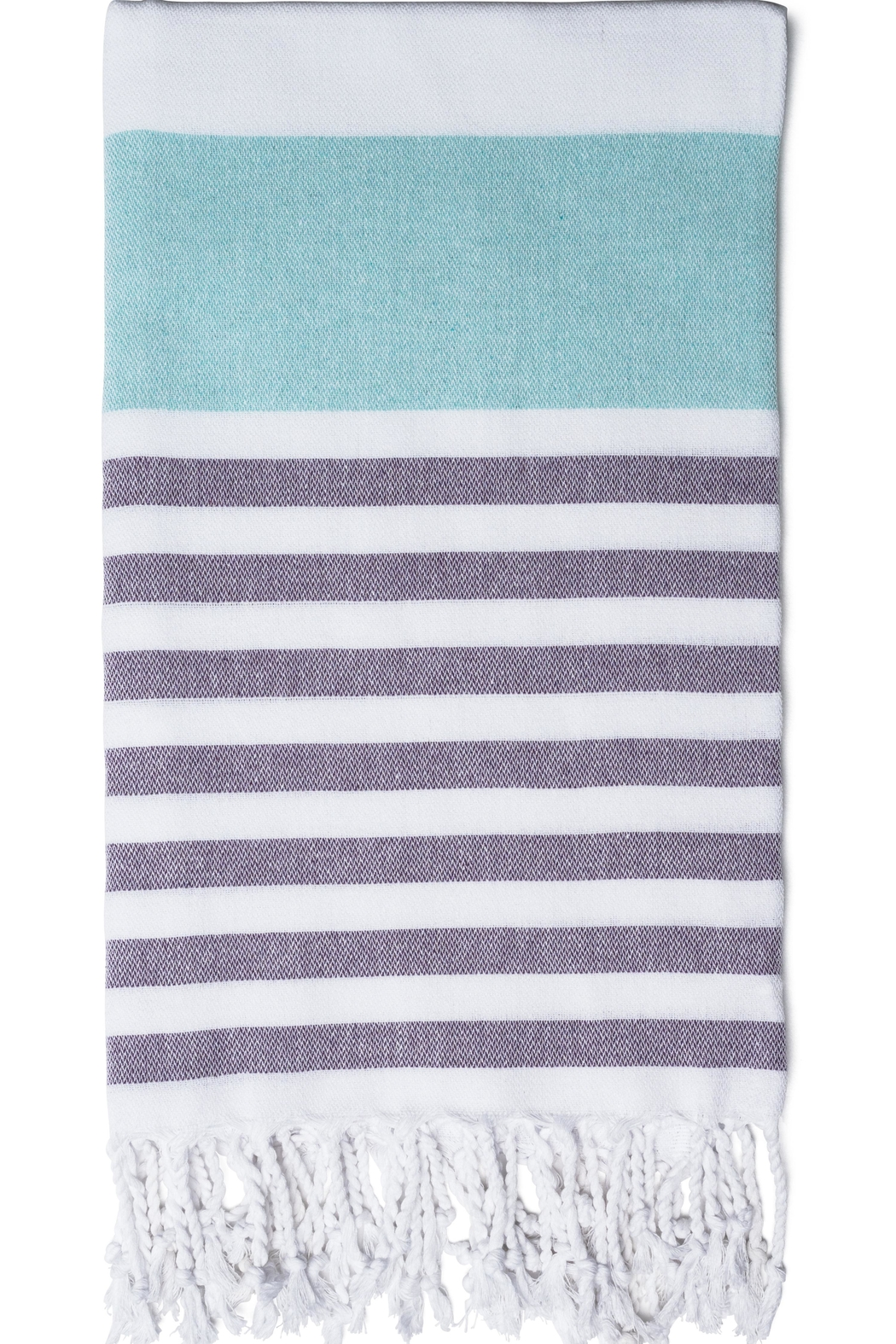 Olive & Loom Marine Beach Towel - Front Cropped Image