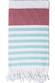 Olive & Loom Marine Beach Towel - Front cropped