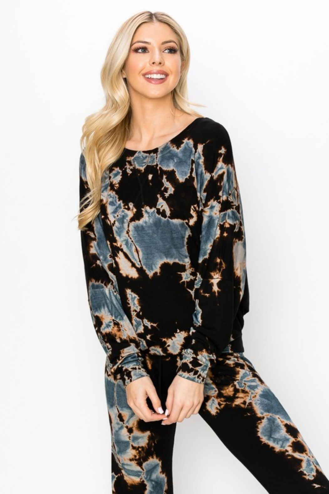 ENTI Marina Terry Splatter Pullover - Front Full Image