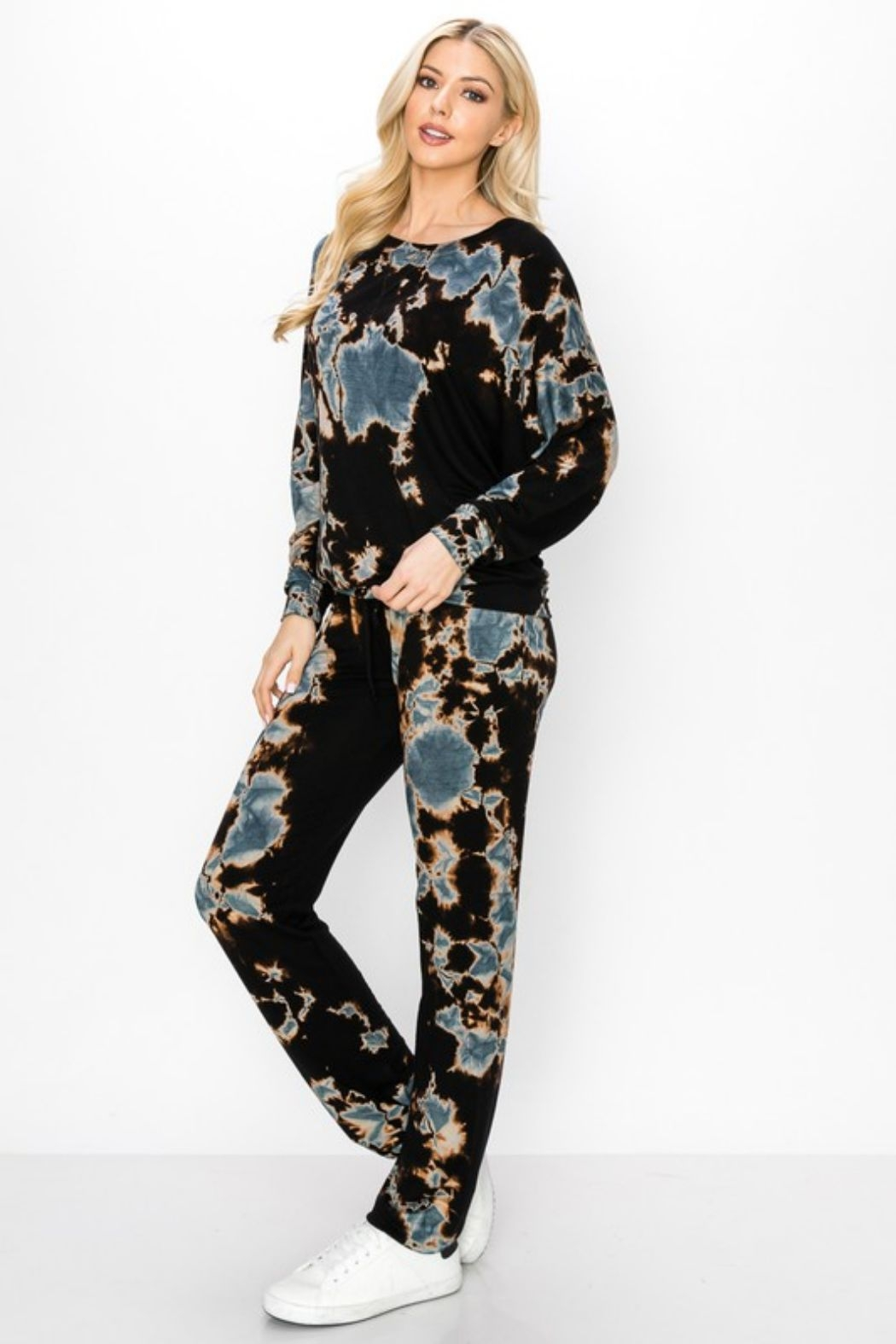 ENTI Marina Terry Splatter Pullover - Back Cropped Image