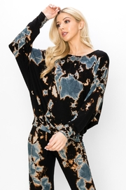 ENTI Marina Terry Splatter Pullover - Front cropped