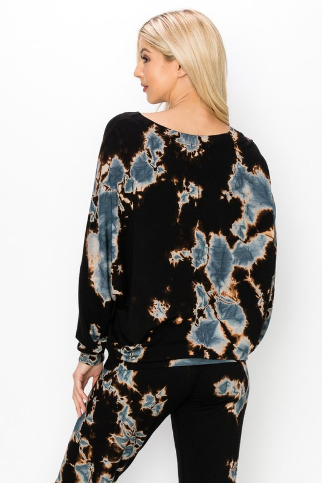 ENTI Marina Terry Splatter Pullover - Side Cropped Image