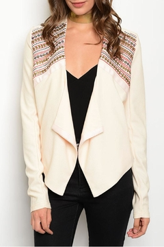Marineblu Cream Embroidered Blazer - Product List Image