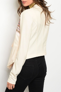 Marineblu Cream Embroidered Blazer - Alternate List Image