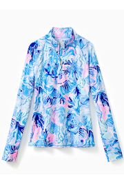 Lilly Pulitzer Marion Sunguard Luxletic UPF 50+ - Front cropped