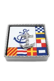 Mariposa Anchor Napkin Box - Front cropped