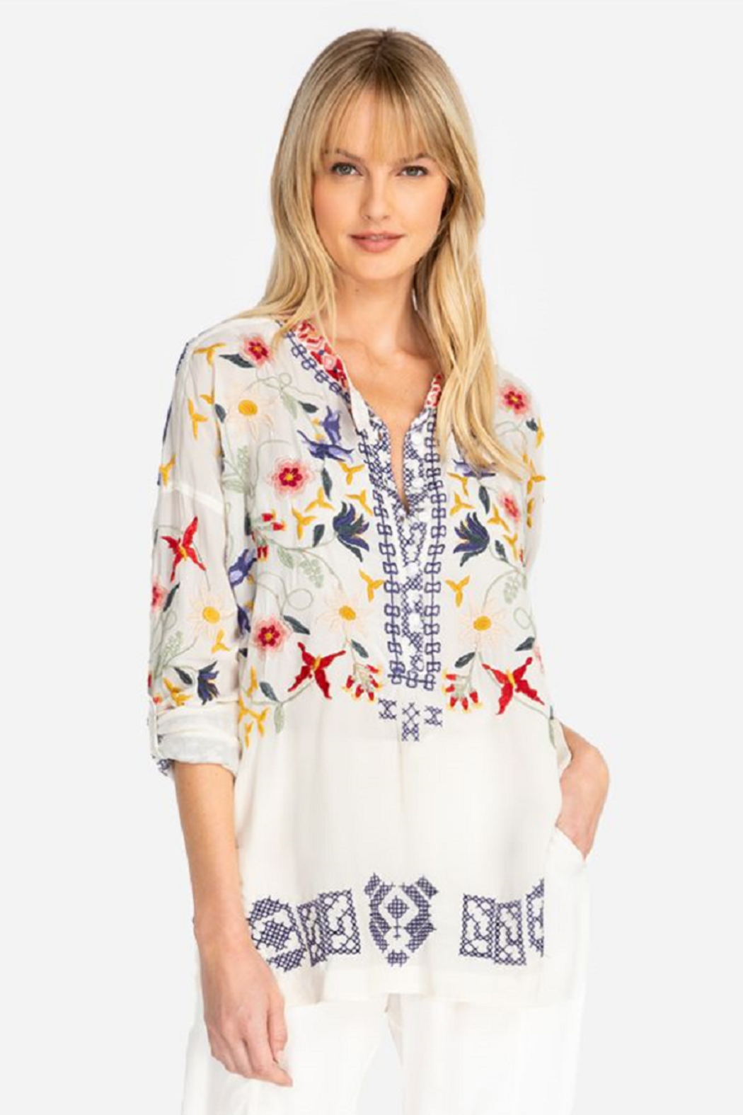 Biya by Johnny Was Mariposa Blouse - Front Cropped Image