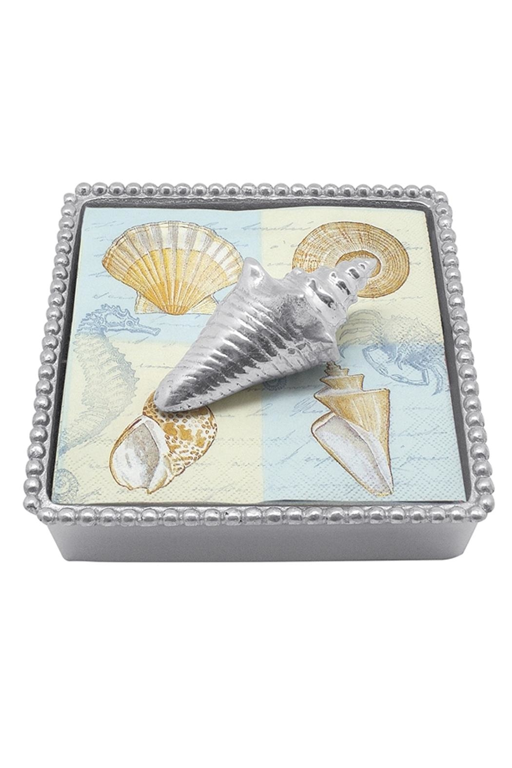 Mariposa Conch Napkin Box - Main Image