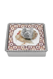 Mariposa Turkey Napkin Box - Front cropped