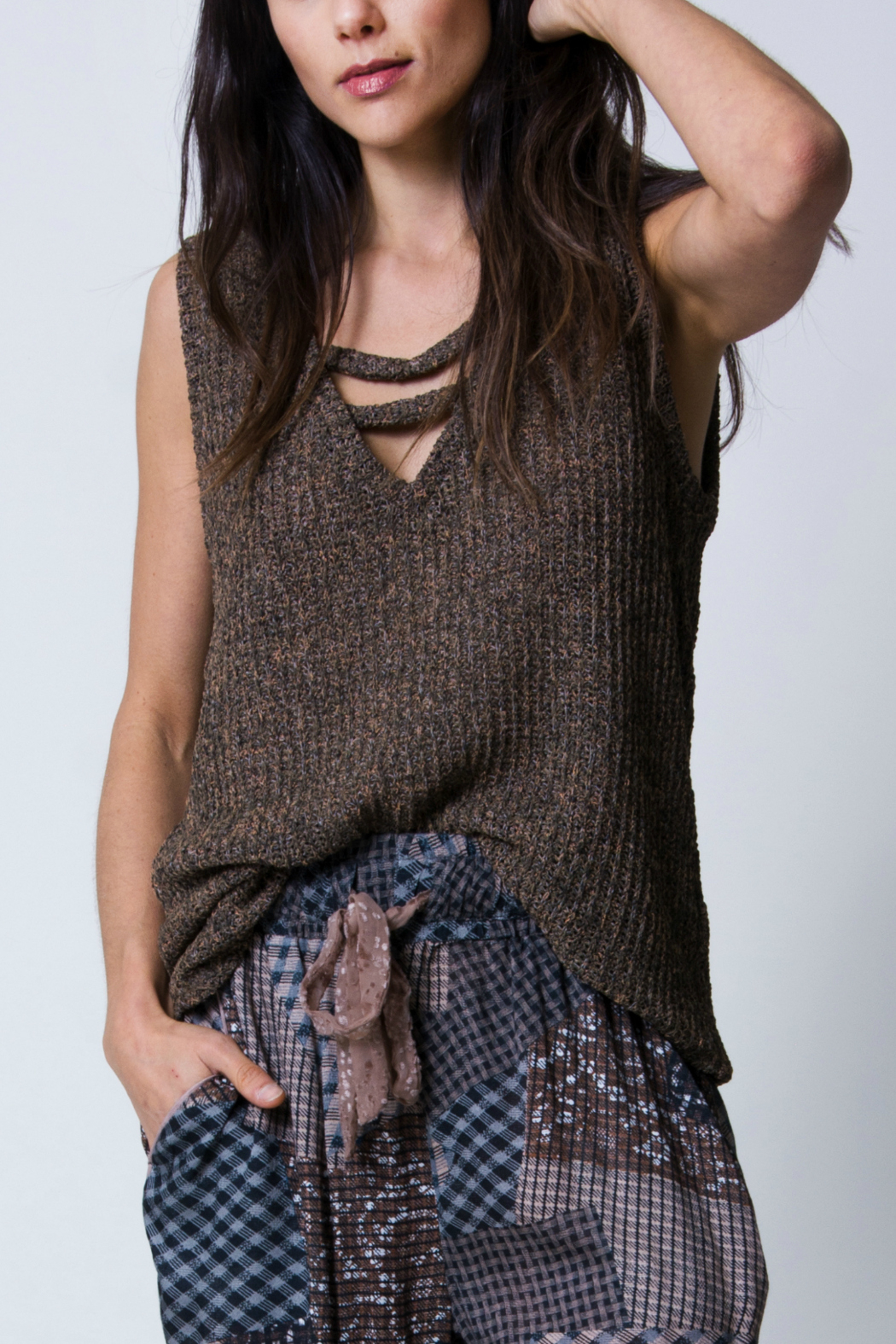 Wanderlux Marissa Boucle tank - Front Cropped Image