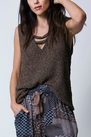 Wanderlux Marissa Boucle tank - Front cropped