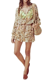 FOR LOVE & LEMONS Maritza Floral-Bell-Sleeved Dress - Product Mini Image