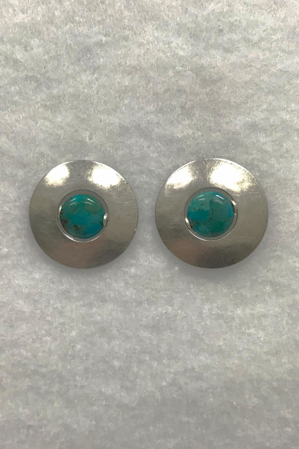 Marjorie Baer Silver Turquoise Earrings - Front Cropped Image
