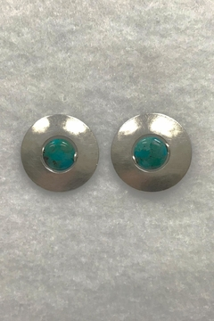 Shoptiques Product: Silver Turquoise Earrings