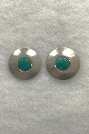 Marjorie Baer Silver Turquoise Earrings - Front cropped