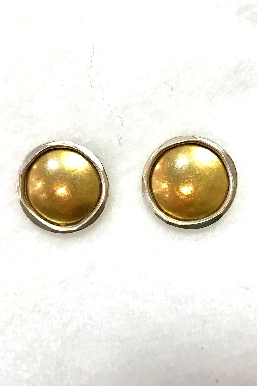 Marjorie Baer Two-Tone Earrings - Front Cropped Image