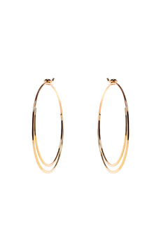 Shoptiques Product: Hammered Double Hoop