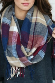Mark Ashton Plaid Blanket Scarf - Product Mini Image