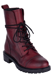 Mark Jenkins Leather Combat Boot - Front cropped