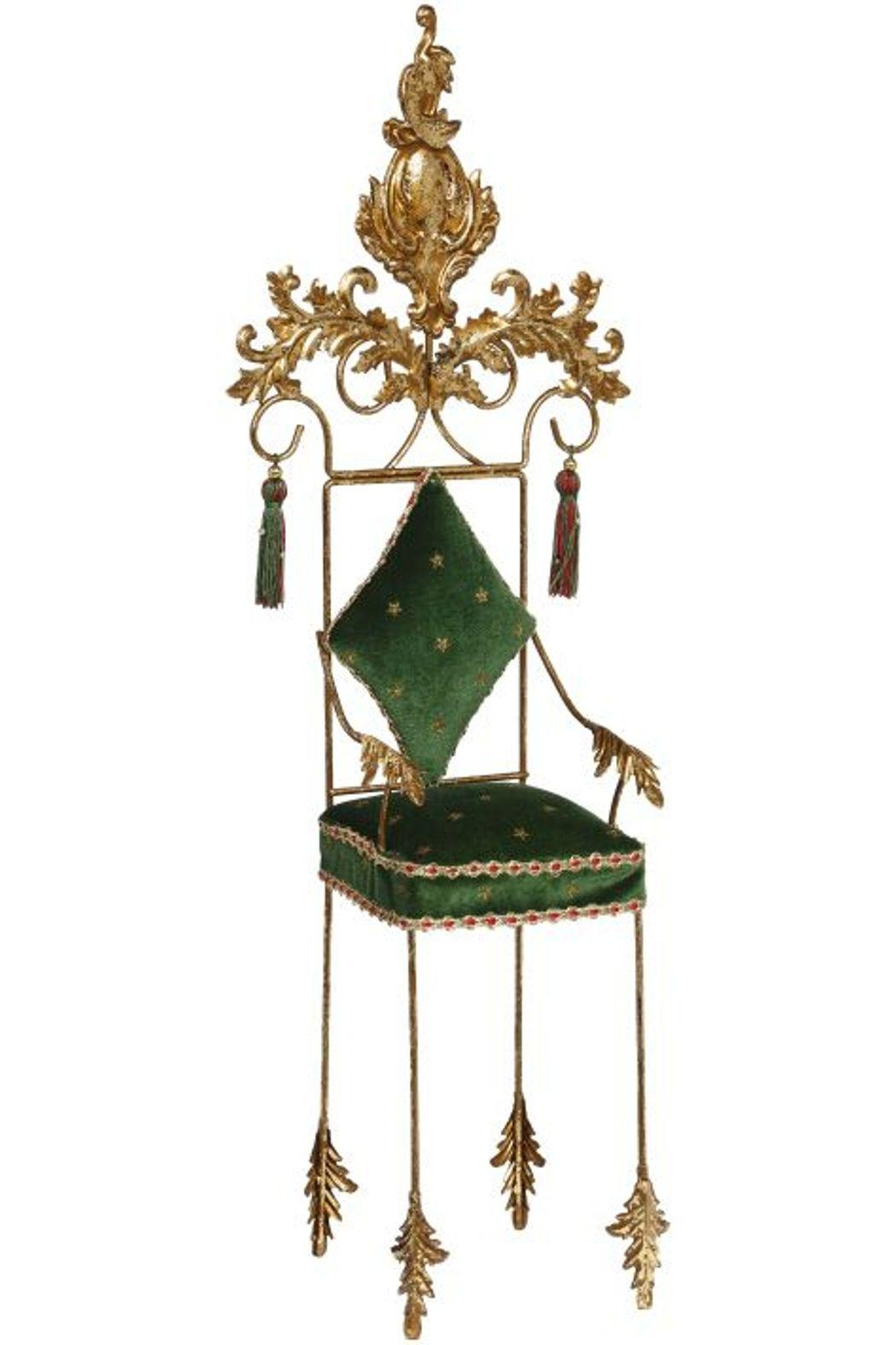 Mark Roberts Fairies Green Christmas Chair - Front Cropped Image