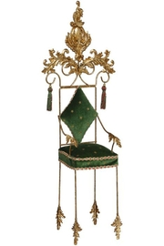 Mark Roberts Fairies Green Christmas Chair - Front cropped