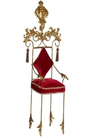Mark Roberts Fairies Red Christmas Chair - Front cropped