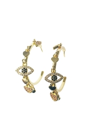 Market and King Charmed Hoop Earrings - Front cropped