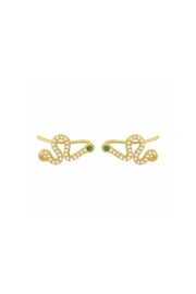 Market and King Snake Climber Earrings - Front cropped