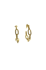 Market and King Textured Chain Hoops - Front full body