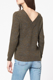 Best Mountain Marled Crossover V Neck Sweater - Front full body