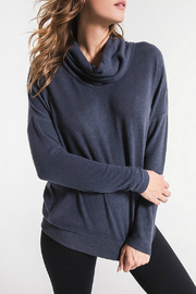 z supply Marled Denim Cowl Neck Sweater - Product Mini Image