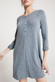 z supply Marled Henley Dress - Product Mini Image