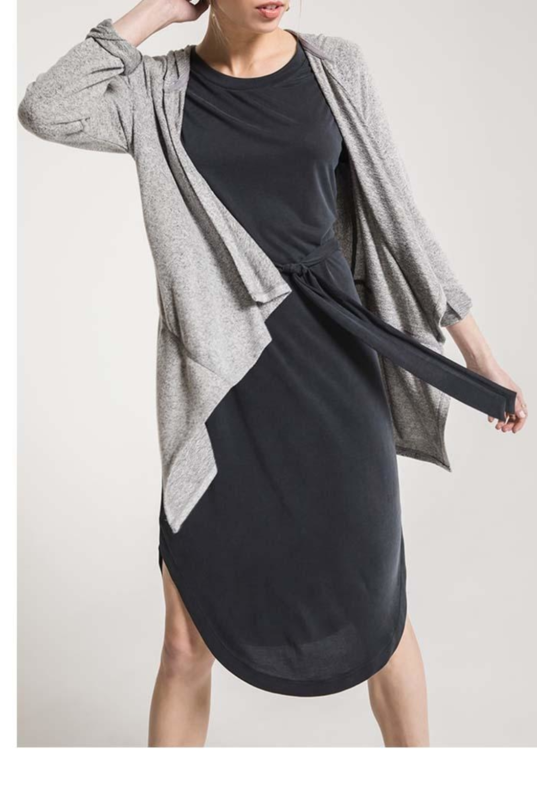 z supply Marled Hooded Cardigan - Front Full Image
