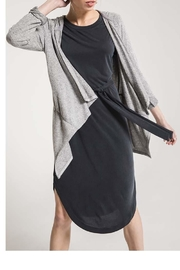 z supply Marled Hooded Cardigan - Front full body