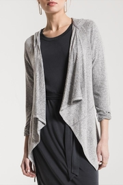 z supply Marled Hooded Cardigan - Product Mini Image