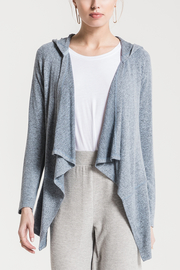 z supply Marled Hooded Waterfall Cardi - Product Mini Image