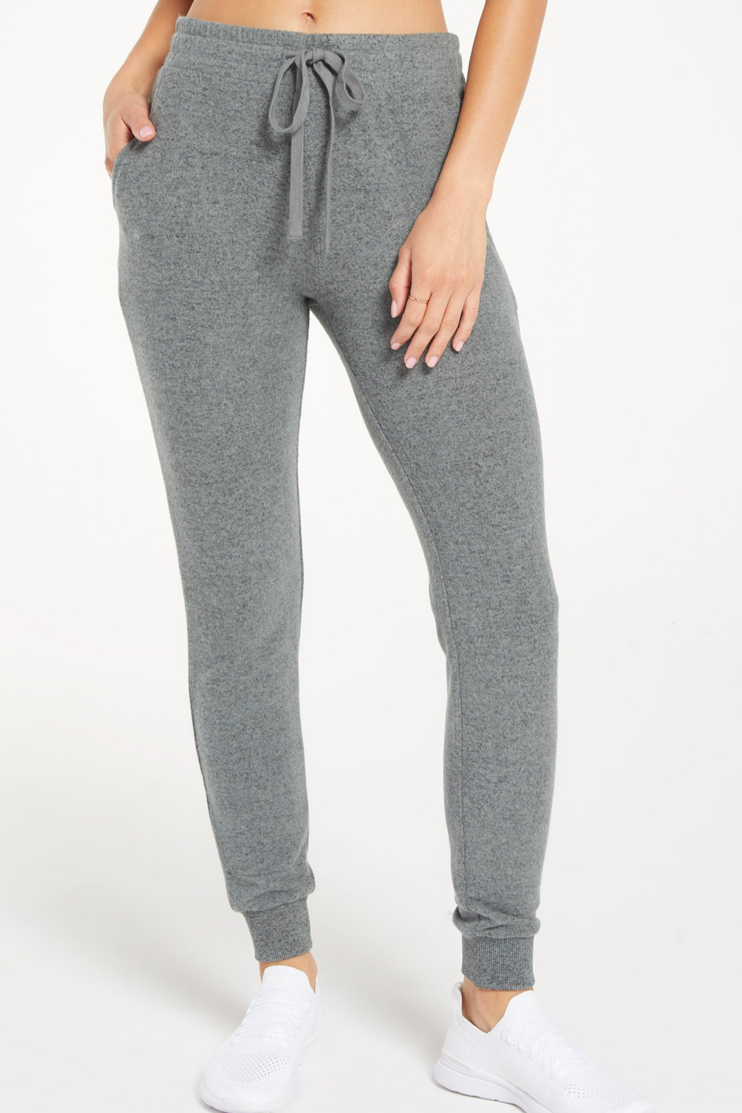 z supply Marled Jogger Pant - Front Cropped Image