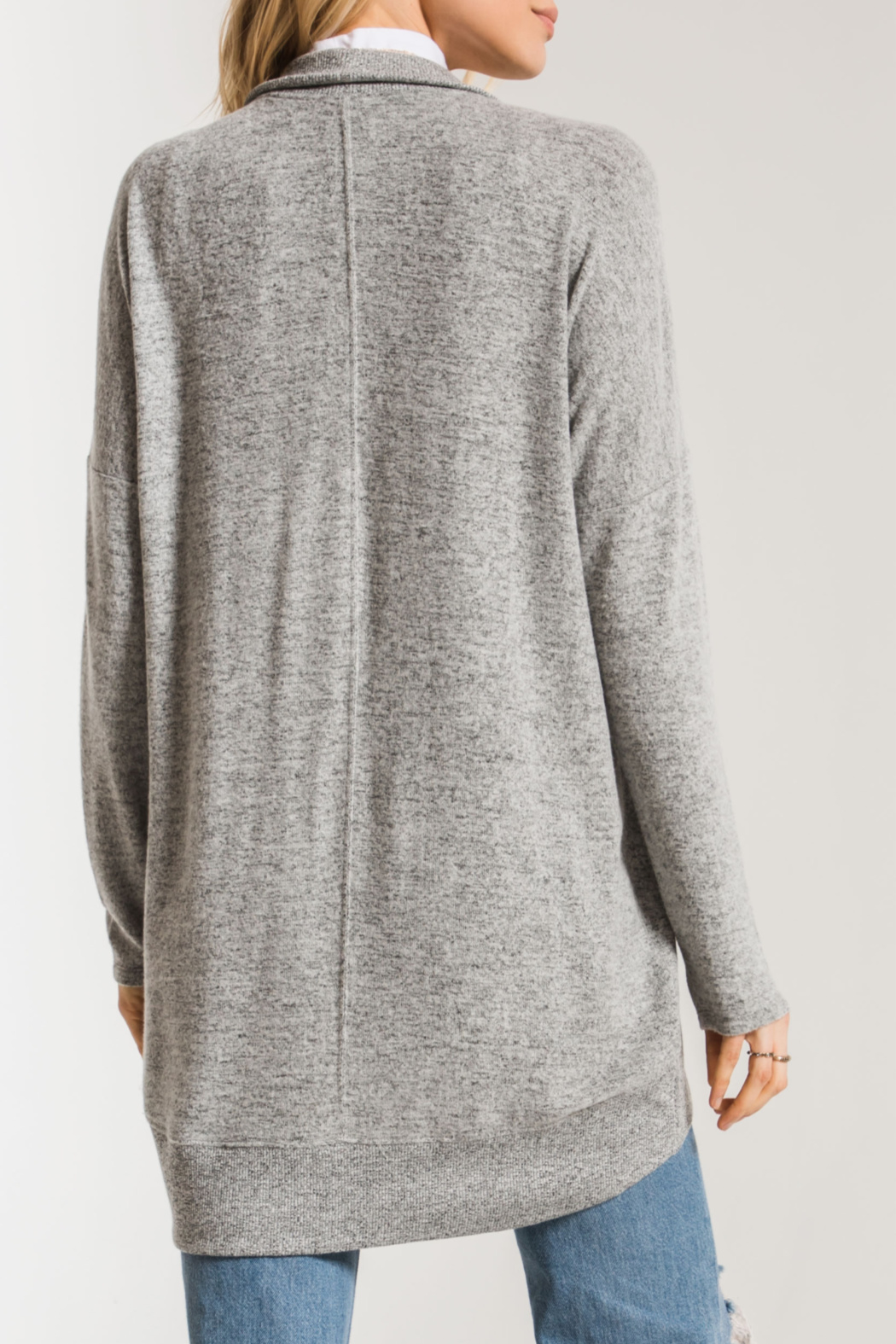 z supply Marled Knit Cocoon Sweater - Side Cropped Image