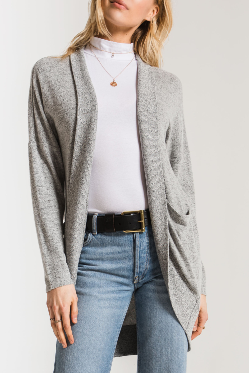 z supply Marled Knit Cocoon Sweater - Main Image