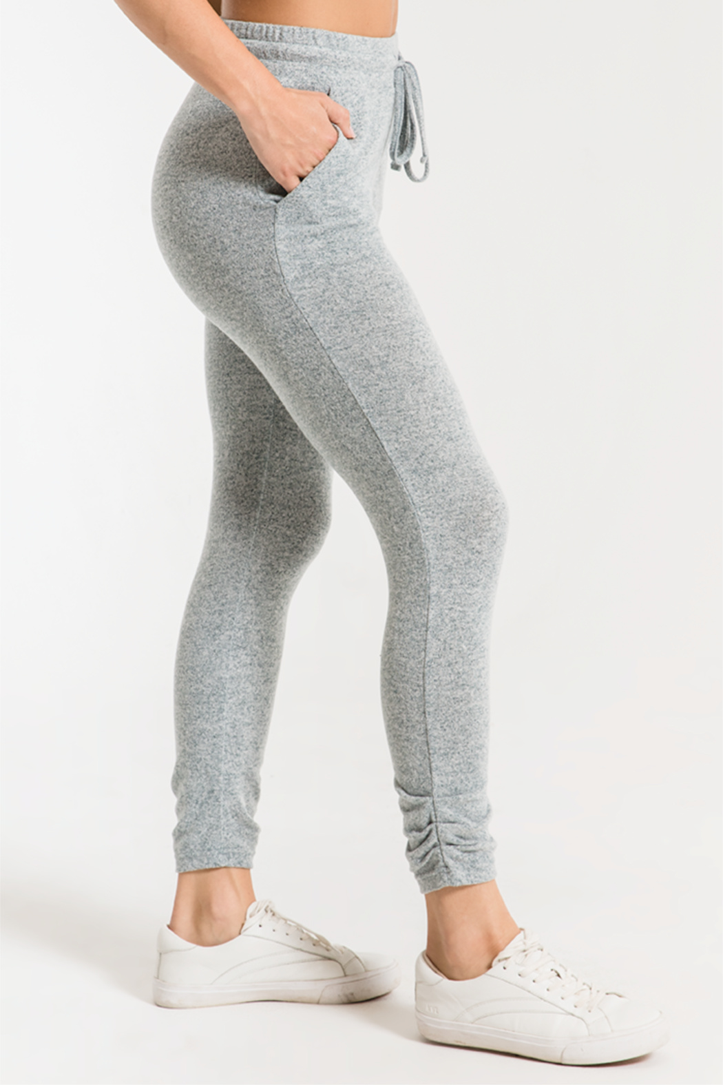 z supply Marled Knit Jogger - Front Full Image