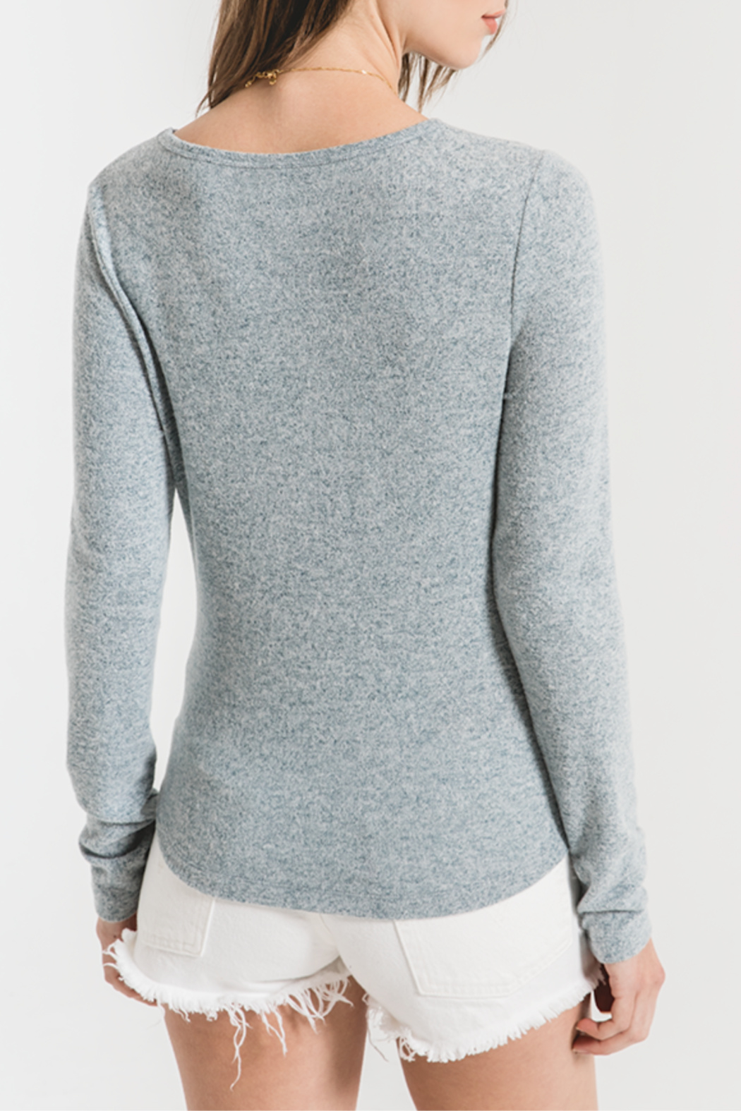 z supply Marled Knit Long Sleeve - Front Full Image