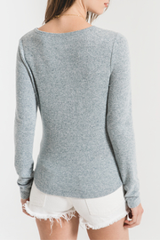 z supply Marled Knit Long Sleeve - Front full body