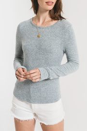 z supply Marled Knit Long Sleeve - Front cropped