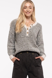 blu pepper  Marled Knit Pullover - Product Mini Image